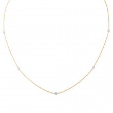 9ct Yellow & White Gold Diamond Necklace