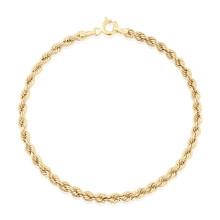 9ct Yellow Gold Rope Bracelet