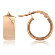 9ct Rose Gold Small Hoop Earrings