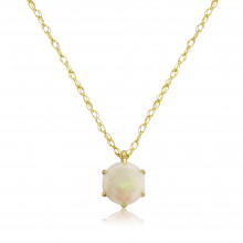 9ct Yellow Gold Opal Pendant Necklace