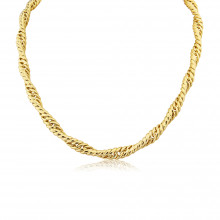 9ct Yellow Gold Twisted Curb Necklace
