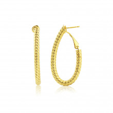 9ct Yellow Gold J Semi Hoop, Twist, Post and Clip Earrings