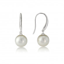 9ct White Gold Pearl Earrings