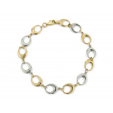 9ct Yellow And White Gold Bracelet