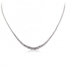 9ct White Gold Palmier Necklace