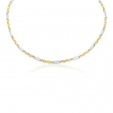 9ct Yellow & White Gold Necklace