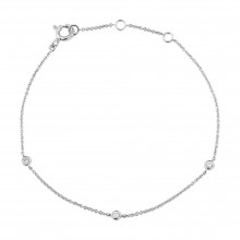 9ct White Gold Diamond Bracelet