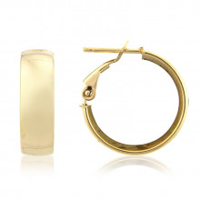 9ct Yellow Gold Medium Hoop Earrings