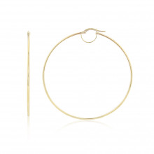 9ct Yellow Gold Large Plain Hoop Earrings