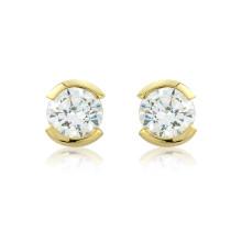 9ct Yellow Gold Cz Stud Earrings