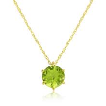 9ct Yellow Gold Peridot Pendant Necklace