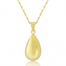 9ct Yellow Gold Teardop Pendant Necklace