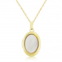 9ct Yellow Gold Mother of Pearl Locket