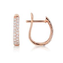 18ct Rose Gold Diamond Pavee Earrings
