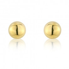 9ct Yellow Gold Medium Ball Stud Earrings