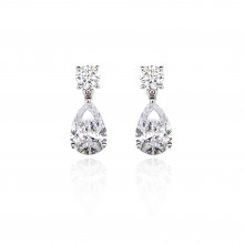 9ct White Gold Cubic Zirconia Earring