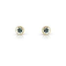 9ct Yellow Gold Cubic Zirconia Stud Earrings