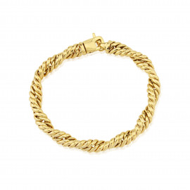 9ct Yellow Gold Twisted Curb Bracelet