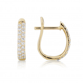18ct Yellow Gold Diamond Pavee Earrings