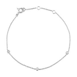 9ct White Gold Diamond Bracelet