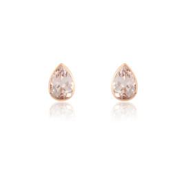 9ct Rose Gold Morganite Earrings