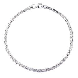 9ct White Gold Palmier Bracelet