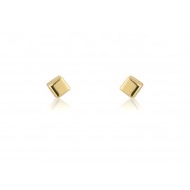 9ct Small Yellow Gold Cube Stud Earrings