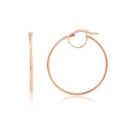 9ct Rose Gold Small Plain Hoop Earrings