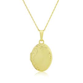 9ct Yellow Gold Hand Engraved Locket