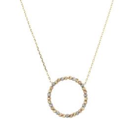 9ct Trio Gold Bead Circle Necklace