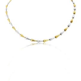 9ct Y & Wg  Fancy Link Necklace