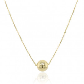9ct Yellow Gold Bead and Chain Necklace