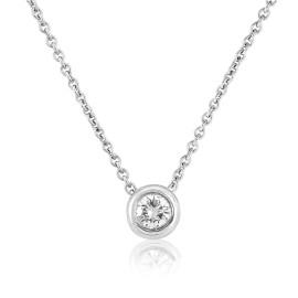 18ct White Gold Diamond Slider Necklace