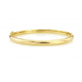 9ct Yellow Gold Stripe Texture Bangle