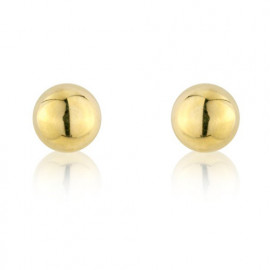 9ct Yellow Gold Medium Ball Stud Earrings