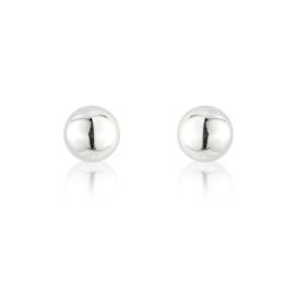 9ct White Gold Medium Ball Stud Earrings