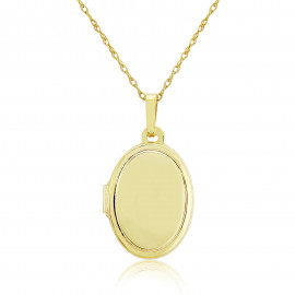9ct Yellow Gold Oval Locket Necklace