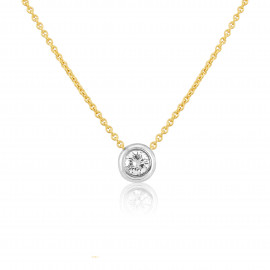 18ct Yellow & White Gold Diamond Slider Necklace