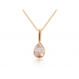 9ct Rose Gold Morganite Pendant Necklace