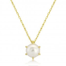 9ct Yellow Gold Cultured Pearl Pendant Necklace
