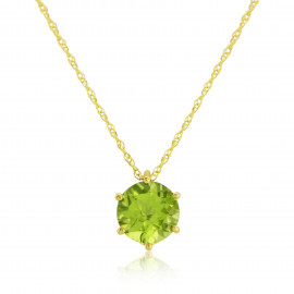 9ct Yellow Gold Peridot Pendant Necklace