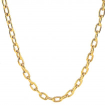 9ct Hollow Yellow Gold Necklace
