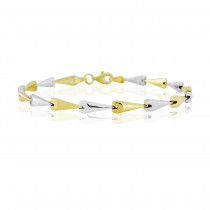 9ct Yellow & White Gold  Fancy Link Bracelet
