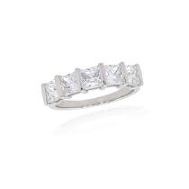 9ct White Gold Cubic Zirconia Princess Cut Ring