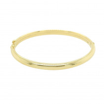 9ct Yellow Gold Curved Hinged Bangle