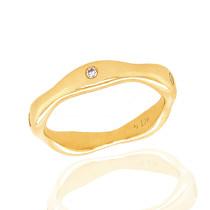 9ct Yellow Gold Diamond 'Bones' Ring