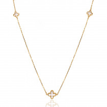9ct Yellow Gold Mother of Pearl Cross Necklace