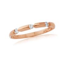 18ct Rose Gold Diamond Notch Ring