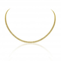 9ct Yellow Gold Panther Link Necklace