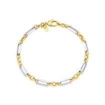 9ct Yellow & White Link Bracelet